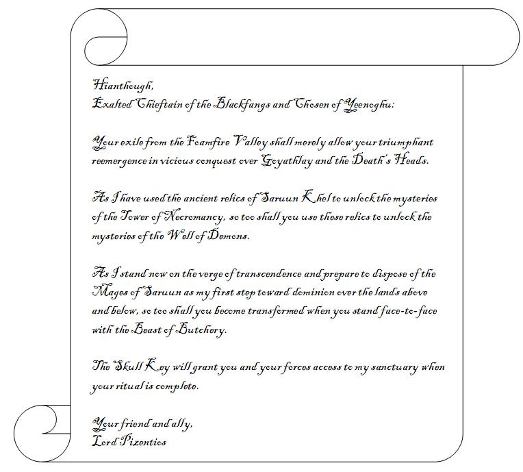 Letter on hianthough