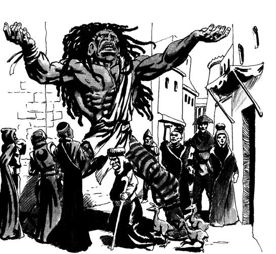 Half giant preacher
