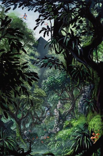 Pyarmid in forest