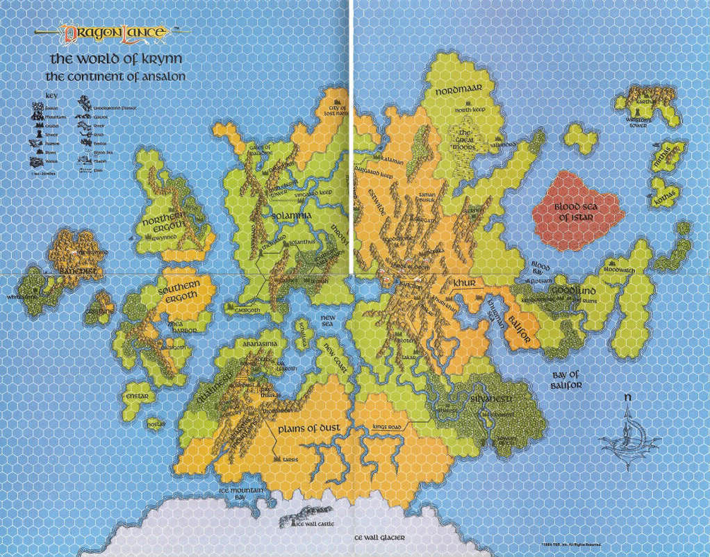 Krynn world map   1