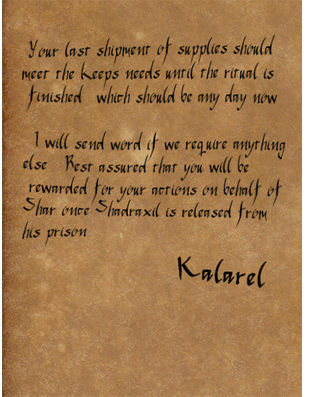 Letter from kalarel to bairwin