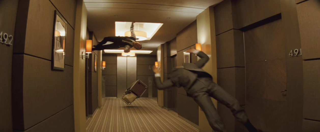 Inception screencap 15 inception hallway fight matrix