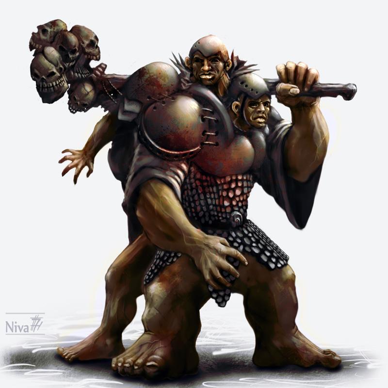 Giant necromancer siamese twins