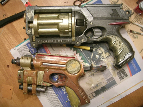 Steampunk nerf guns