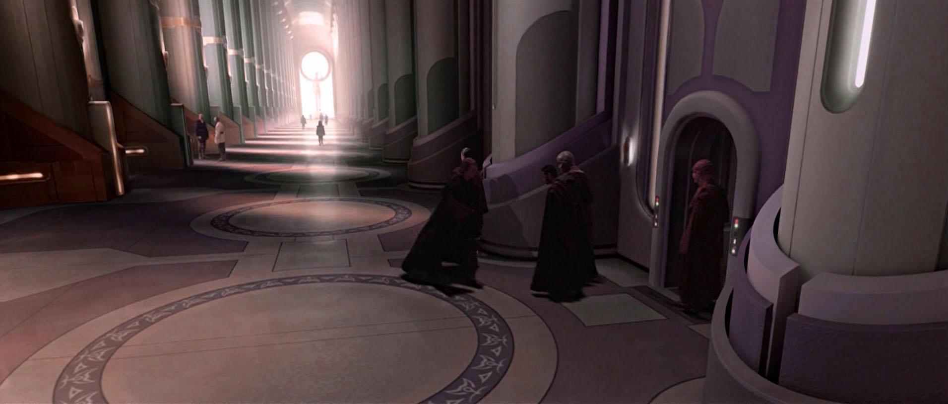 Jedi temple hallway rotshd