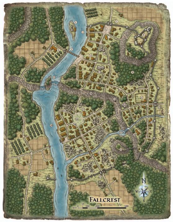 Fallcrest map