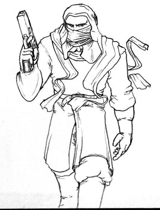 Cloaked desert raider 2
