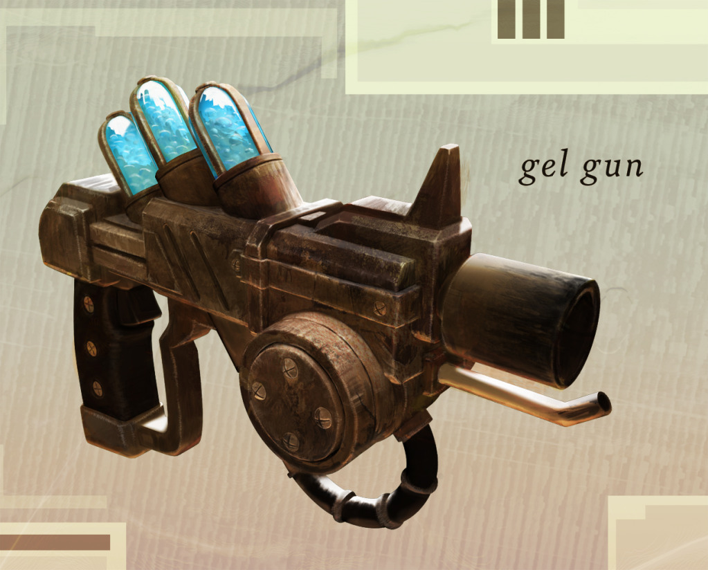 Gun concept isolated