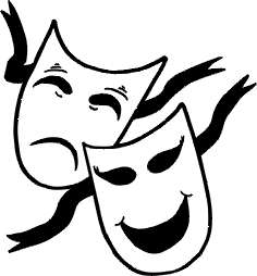 Silly drama masks