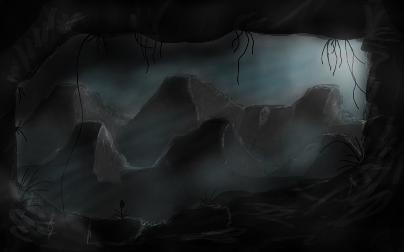 Dark cave by cronec
