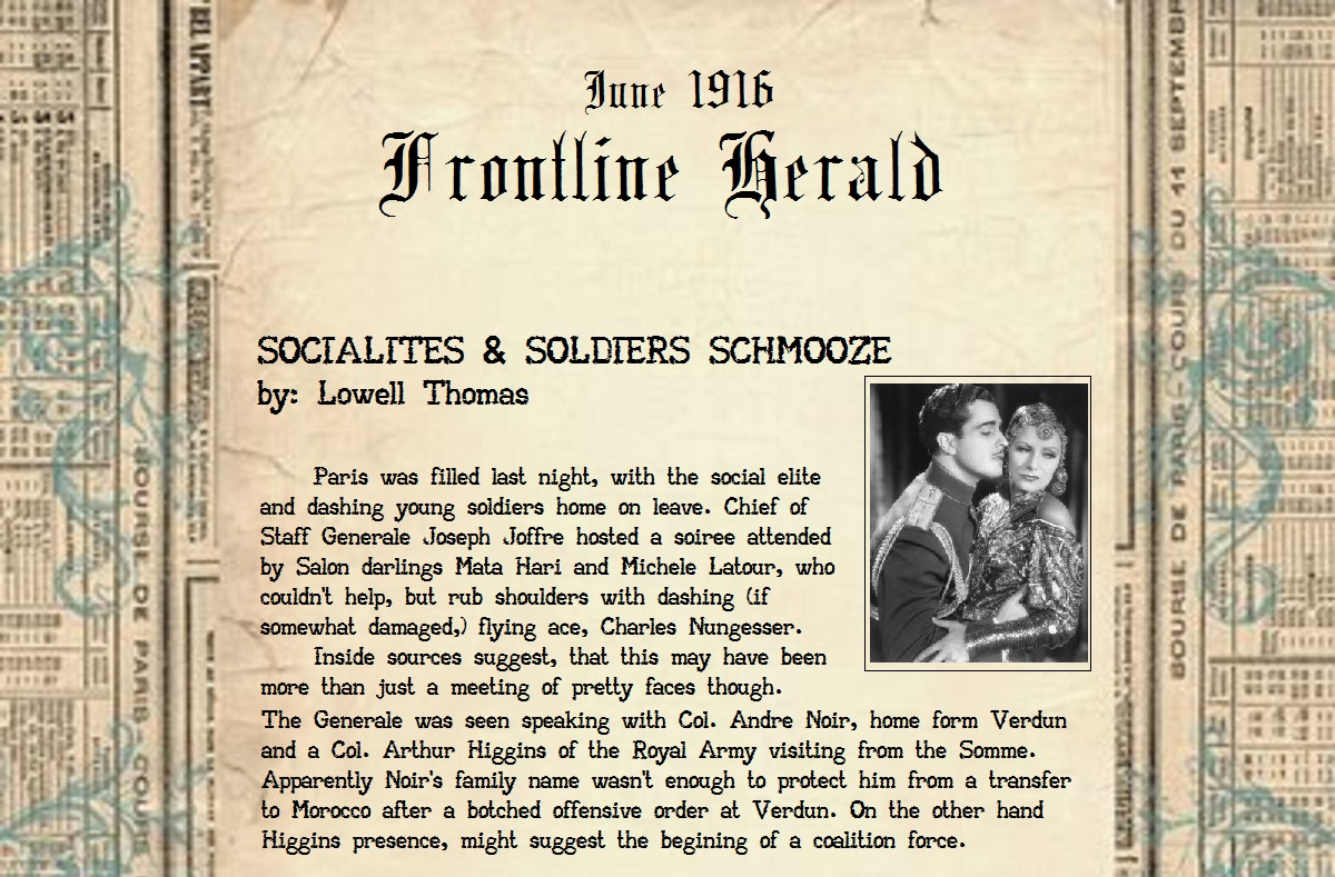 Socialites and soldier schmooze