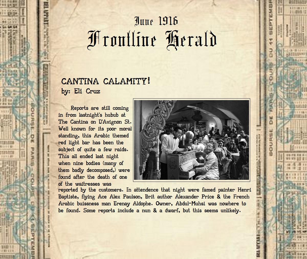 Cantina calamity