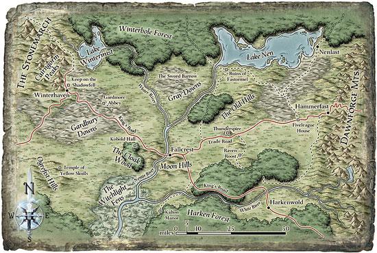Nentir vale map