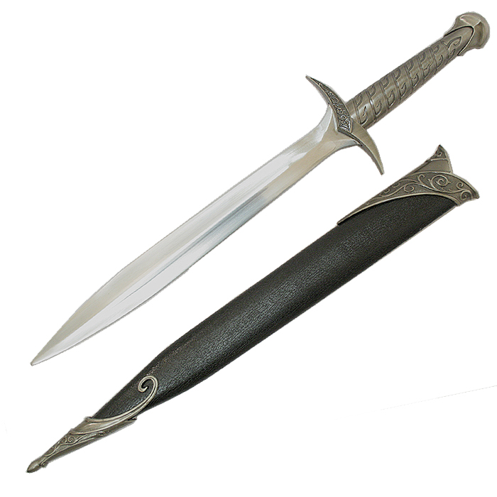 Glowing sting short sword with sheath lord of the rings frodo 1