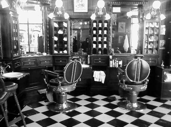 Tease tonic on pinterest barber shop hair salons and - Barber shop interior ...