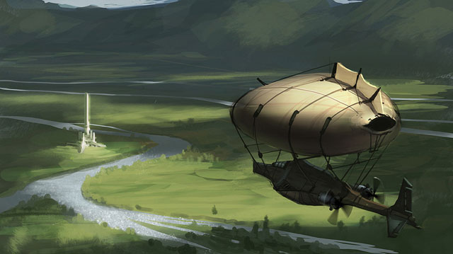 Airship by justin oaksford