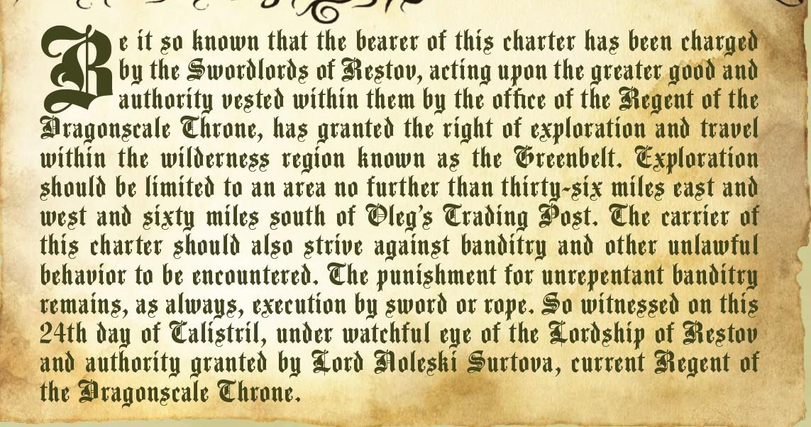 Exploration charter