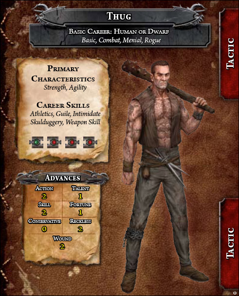 Warhammer fantasy roleplay thug career
