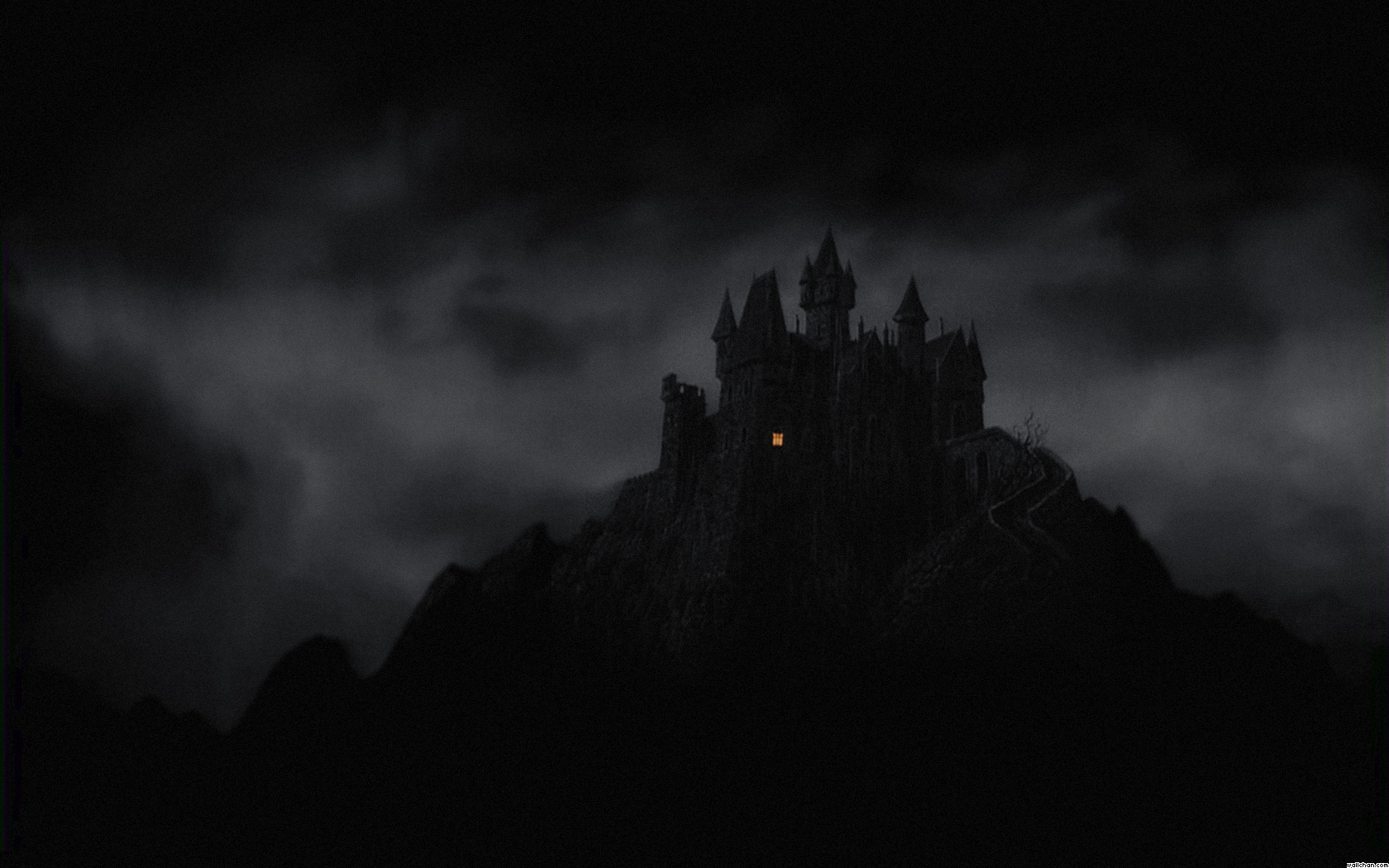 1305875279 fantasy mountains castle dark night window gothic wallpaper