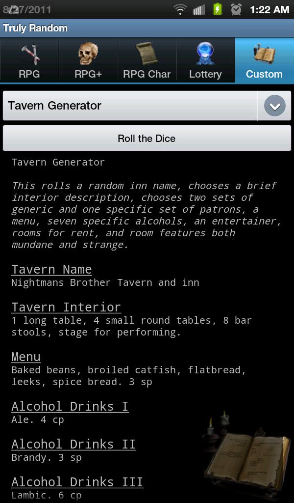 Tavern generator