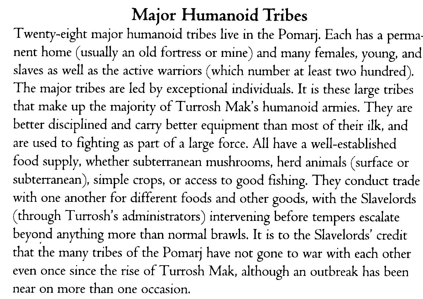 Pomarj tribes
