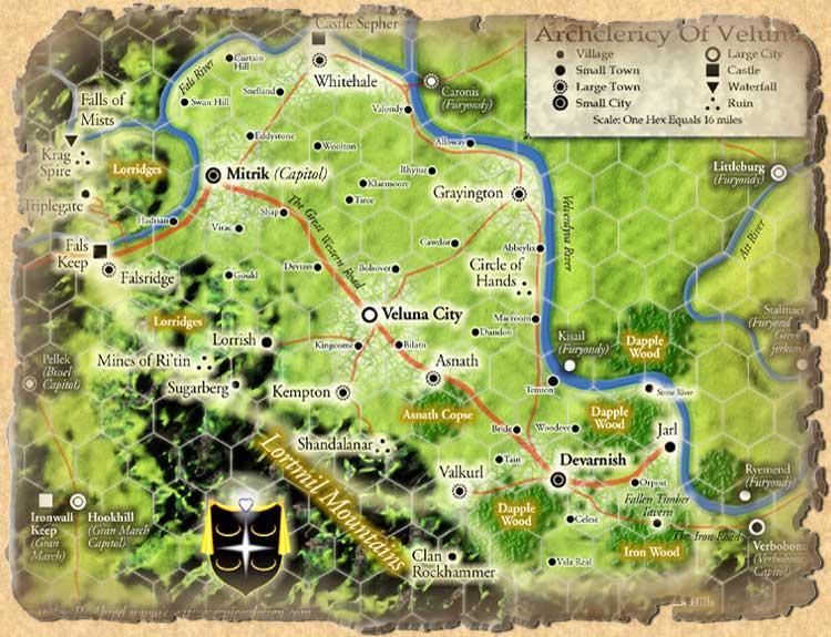 Map veluna