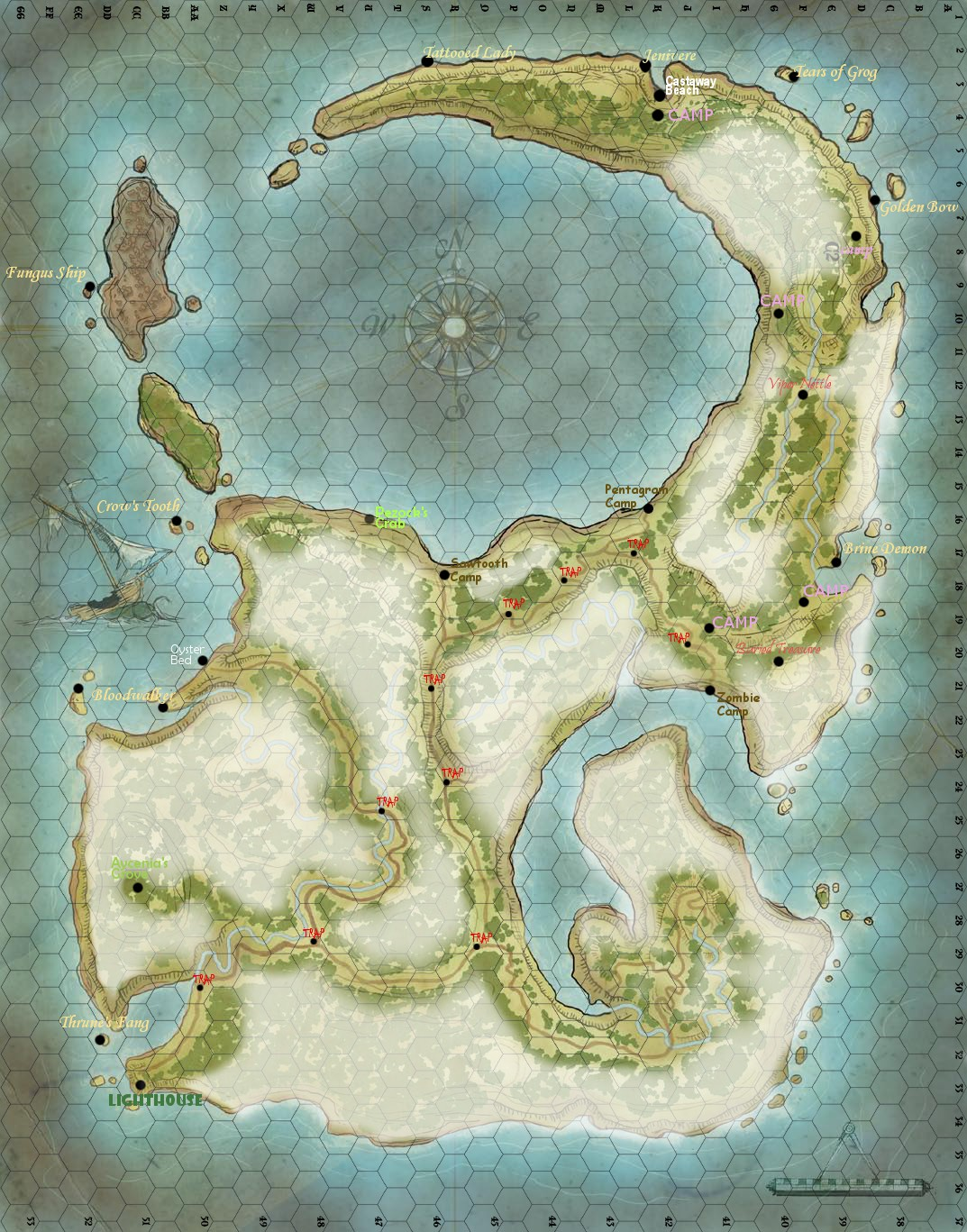 Players map
