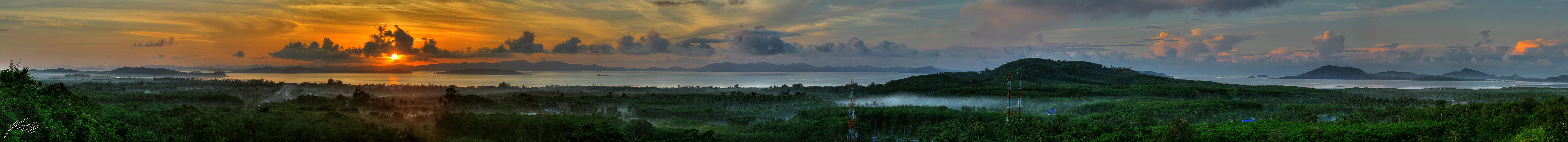 Hdr panorama phuket thailand sunrise
