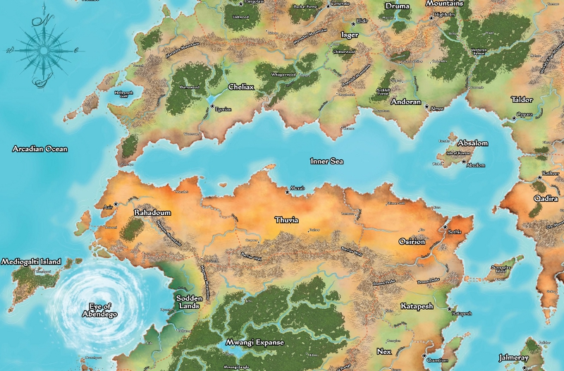 A Brief Geography Of Golarion Pathfinder Society First Steps