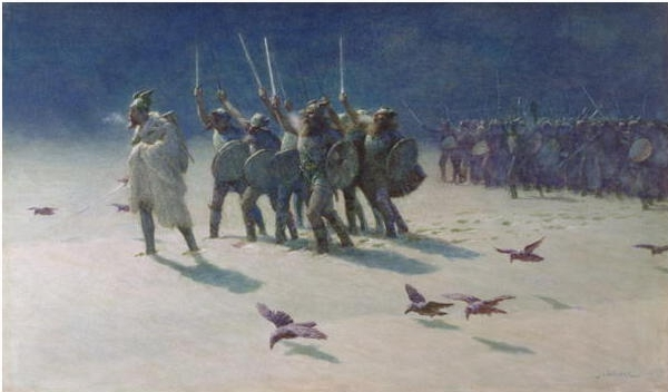 Vikings in snow