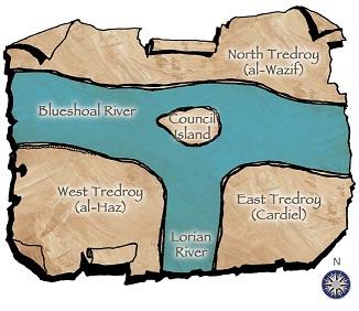 mapa de Tredroy
