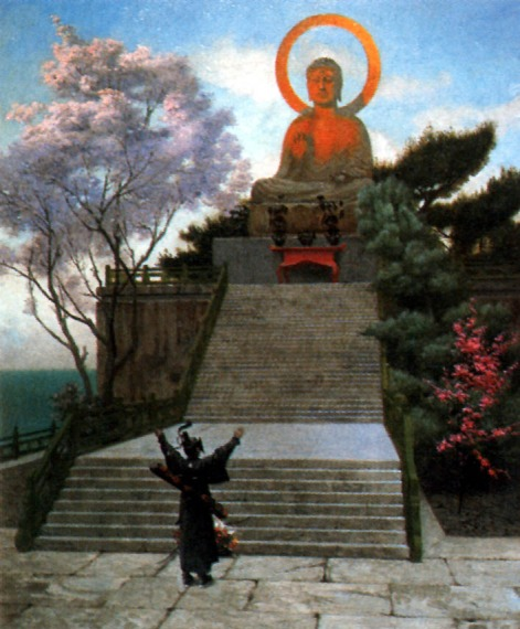 A japanese imploring a divinity large