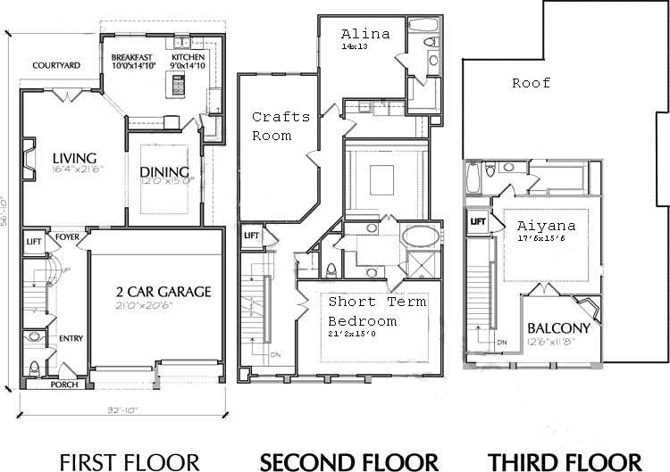Urban house floorplan
