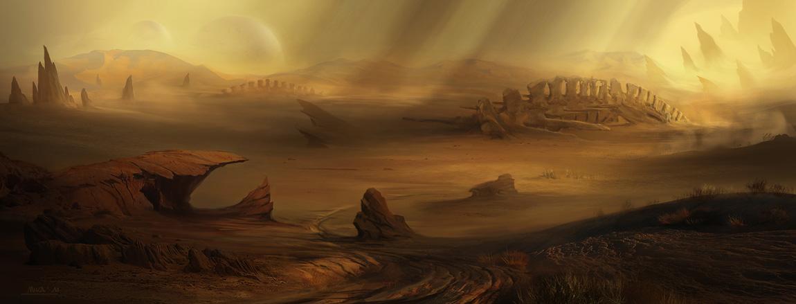 1150x439 981 desert bones 2d landscape desert picture image digital art