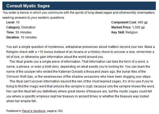 Consult mystic sages