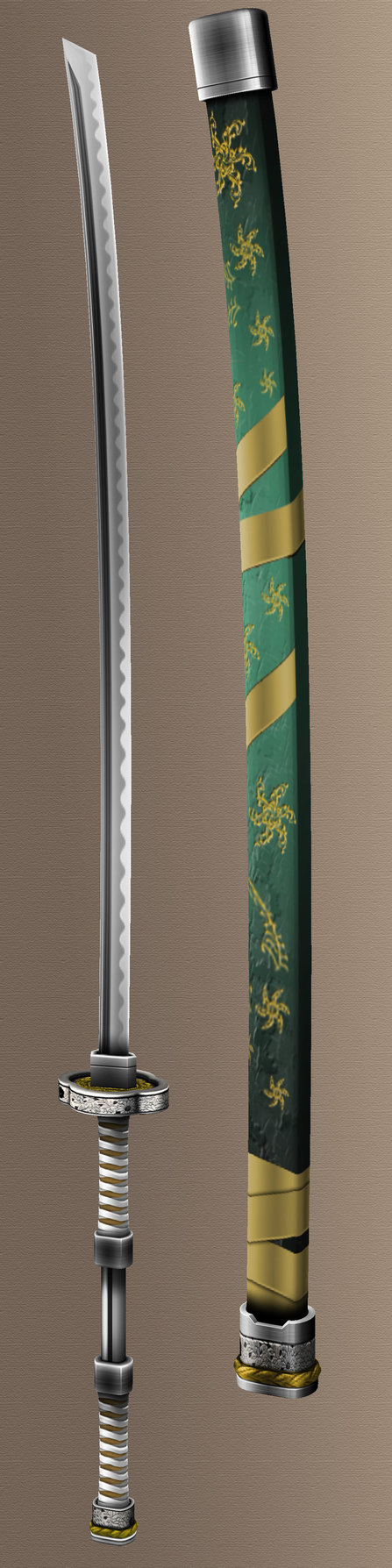 Jade nodachi by pupatron