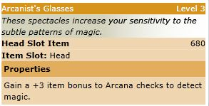 Arcanists glasses stats