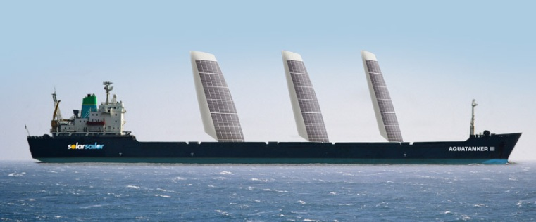 Solar and wind ship