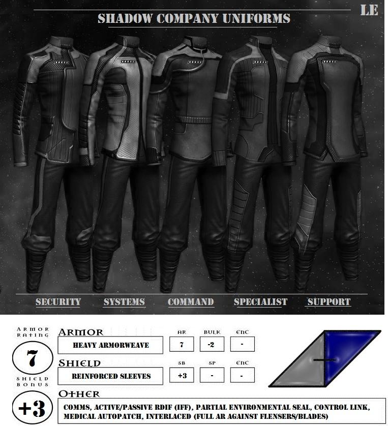 Shadow company uniforms