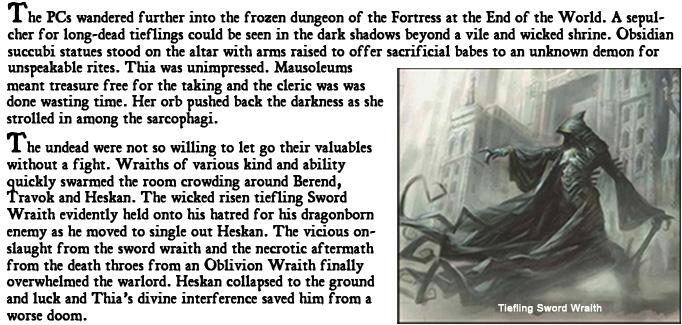 Wrath of wraiths