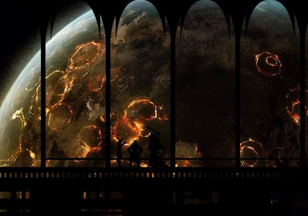 Burning planet sm