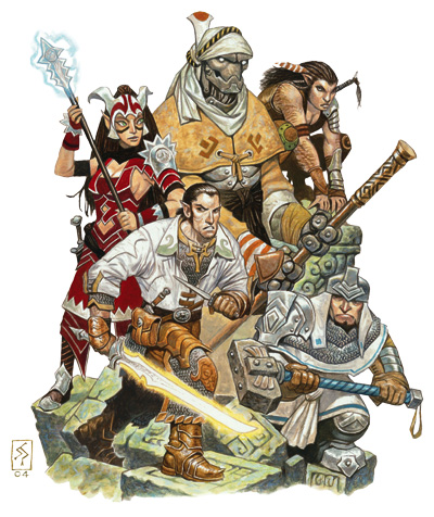 Eberron adventure party
