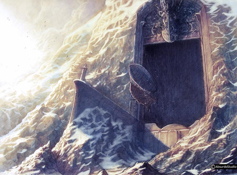 Gate to dragon fang mountain