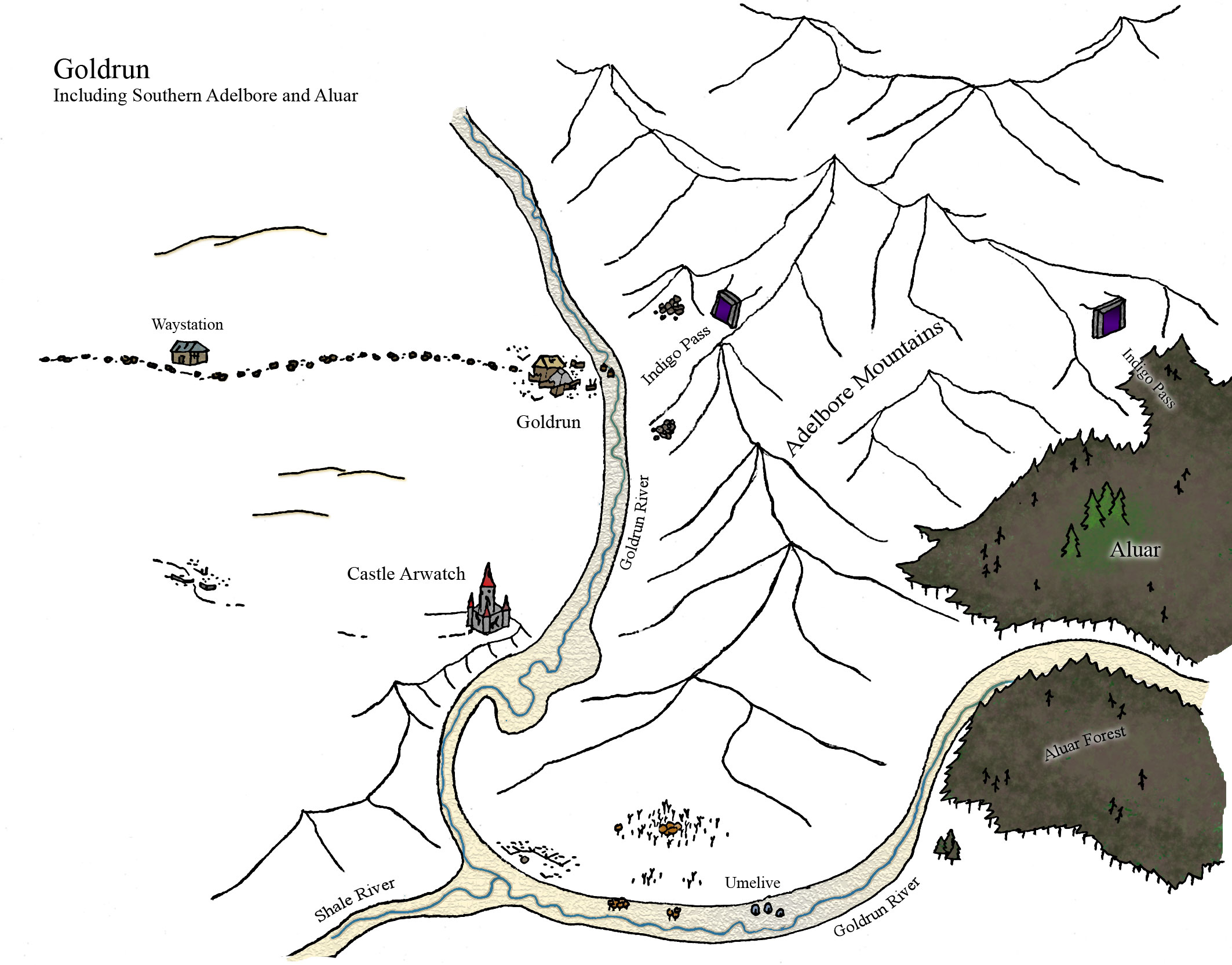 Goldun map ruins
