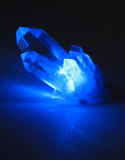 Blue laser crystal