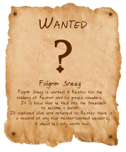 Wanted falgrim