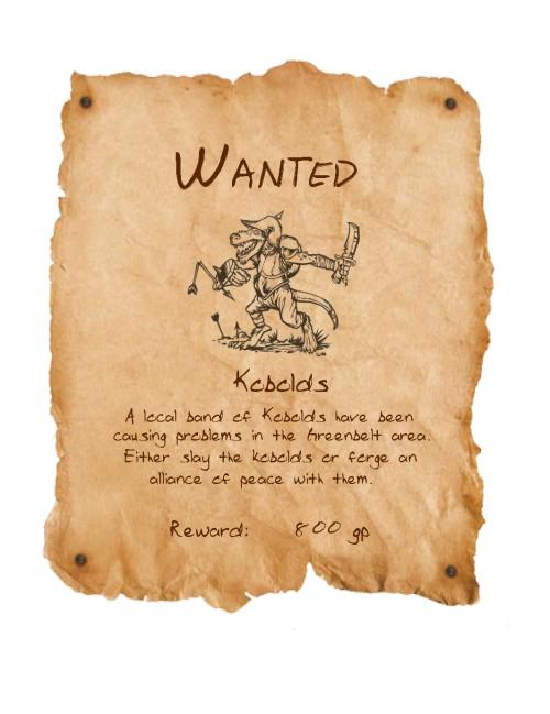 Wanted kobolds
