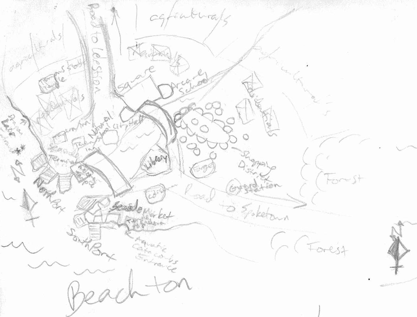 Map beachton