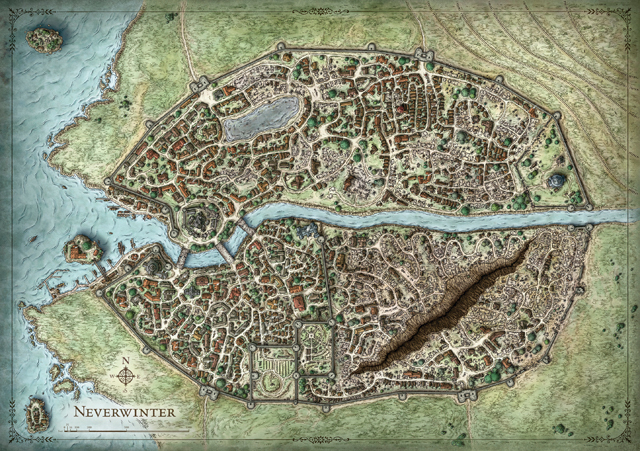 Neverwinter city map