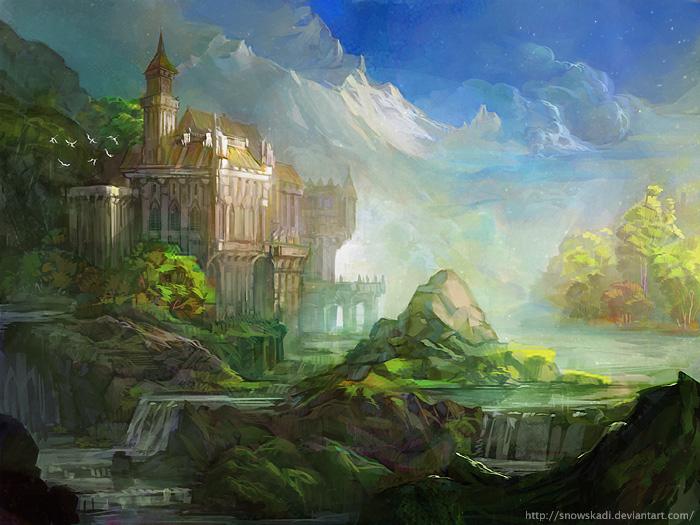 Lush castle